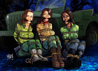 Louise, Lara and Alex in trouble by mileshendon