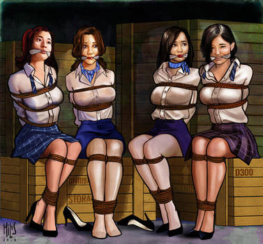 4 pretty hostages by mileshendon