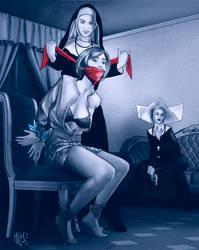 Angela and the Fake Nuns by mileshendon
