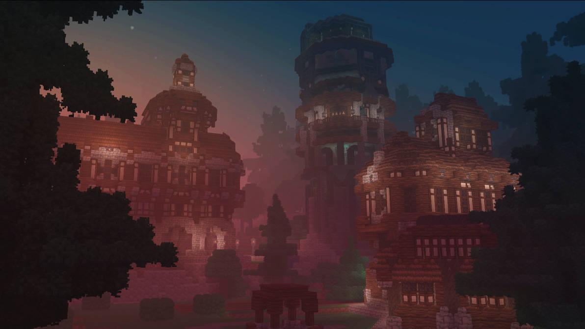 Voxelnauts:  Sunset Town by haikuo