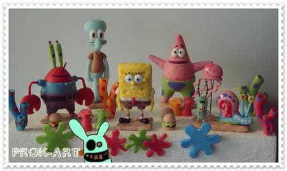 Bob esponja y amigos by prok-art