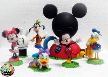 MICKEY AND FRIENDS by prok-art