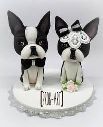 boston terrier cake topper by prok-art
