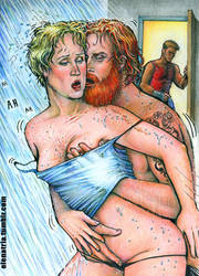 Tormund and Brienne: in the shower by ElenaTria