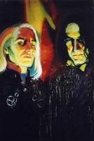 Lucius and Snape: Deatheaters by ElenaTria