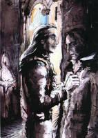 Lucius and Snape: Men's room by ElenaTria