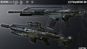 Crysis 2 Mk20 Scar By Scarlighter D4viz2h by RyanXboxOneXBlackXR1