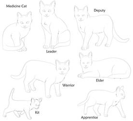 Warrior Cat Bases by dog-rose