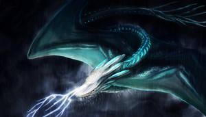 Storm Dragon by OrmIrian