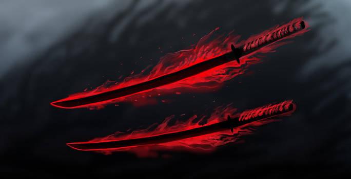 Scaraceus - The Demon Blades by OrmIrian