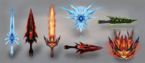 Weapon Concepts by OrmIrian
