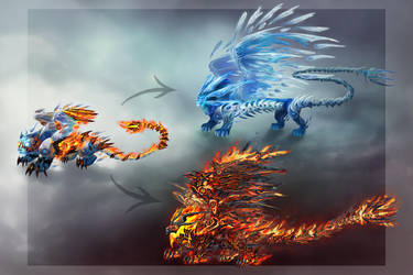 Fire and Ice by OrmIrian