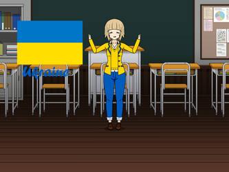 Kisakae Girls Around the World - Ukraine by Nemoleegreen343