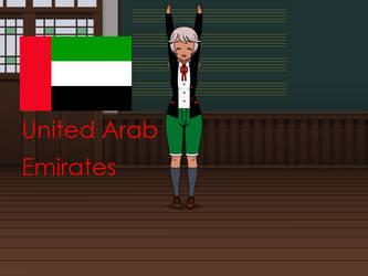 Kisakae Girls Around the World - UAE by Nemoleegreen343