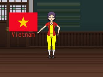 Kisakae Girls Around the World - Vietnam by Nemoleegreen343