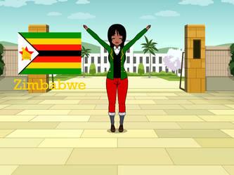 Kisakae Girls Around the World - Zimbabwe by Nemoleegreen343