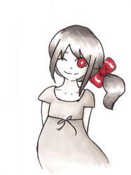 Gris et rouge by Momo-no-kuni