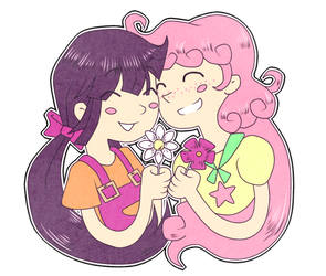 Violet and Daisy by GloamingCat