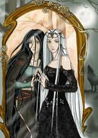 Elwen and Helea FANART by Blackfiriel