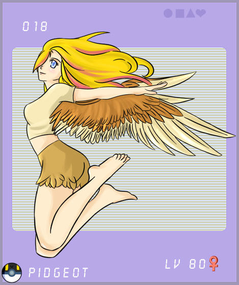 pidgeot gijinka free by silvaras on deviantart