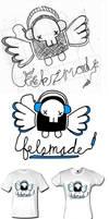 skullphones tshirt by ItsmeJonas