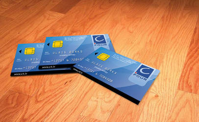C4 Business card like bank car by Indriks