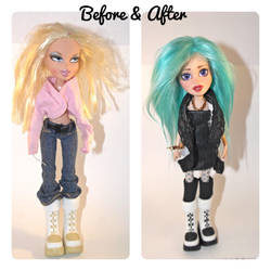Bratz OOAK before and after by tertunni