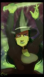 The green girl by KezART