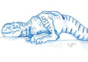 Sleeping Tyrannosaurus Rex by Mountaineer47