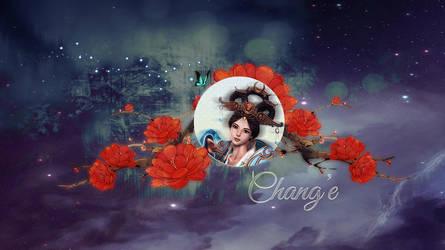 Chang'e Smite wallpaper by Fuukita