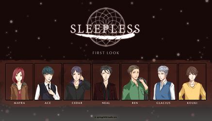 Sleepless: Characters Line Up by SpringchildStudio
