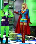 Supergirl Vs Kryptonitekid by Terrymcg