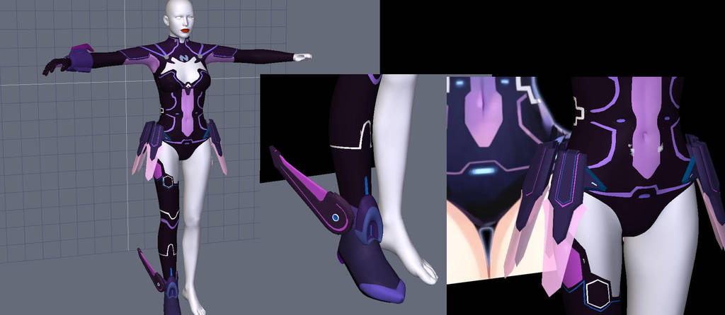 Hyperdimention Neptunia costume preview22  by Terrymcg