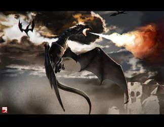 Fire dragon by Layerx3