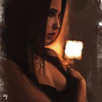 Girl portrait by Layerx3