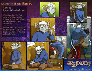 Character Sheet- Auric by deadbeatgods