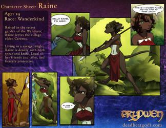 Character Sheet- Raine by deadbeatgods