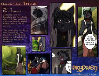 Character Sheet-Tristan by deadbeatgods