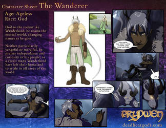 Character Sheet- The Wanderer by deadbeatgods