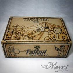 Wood Box: Fallout [Pyrography / Woodburning] by dcmorais