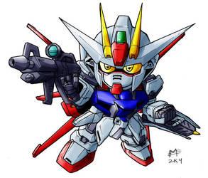 SD Air Strike Gundam by Mintyrobo