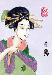 Elegance Utamaro by chidori-k