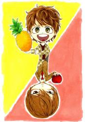 Miyano Mamoru and Light Yagami by chidori-k