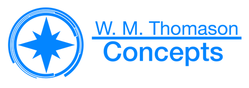 W M Thomason Concepts Logo by NewPlanComics