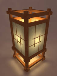 Japanese Lamp by Geometrixx