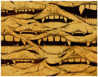 Teeth and Lips study by MisterBlackwood