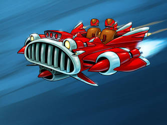 Flying Roadster by MisterBlackwood