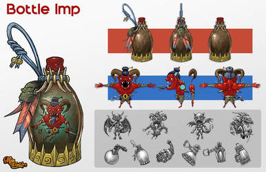 Bottle Imp Concept by MisterBlackwood