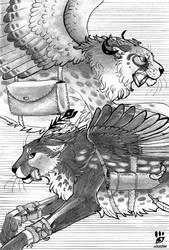 Inktober 1 Swift Cheetahs by louizim