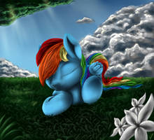 Sleepy Rainbow by CometFire1990